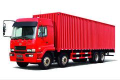 华菱之星 345马力 8X4 9.6米排半厢式载货车(HN5310XXYX34D6M5)