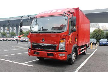 中国重汽HOWO 悍将 标载版 156马力 4.15米单排厢式轻卡(ZZ5047XXYF341CE145)