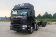 青岛解放 天V重卡 350马力 8X4 9.5米仓栅式载货车(435后桥)(CA5313CCYP2K2L7T4E4A80-1) 卡车图片