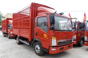 中国重汽HOWO 悍将 170马力 4.15米单排仓栅式轻卡(ZZ2047CCYG332CE145)