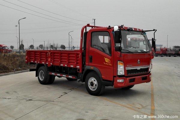 中国重汽HOWO 悍将 129马力 4.165米单排栏板轻卡