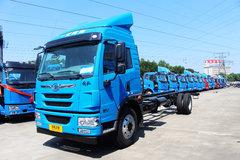 青岛解放 龙V中卡 180马力 4X2 7.7米厢式载货车底盘(CA5160XXYPK2L5E5A80-3) 卡车图片