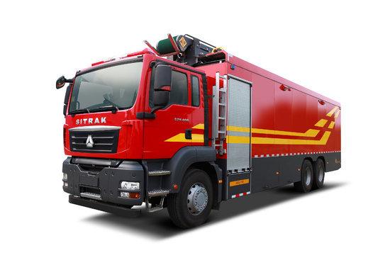 中国重汽 汕德卡SITRAK C7H重卡 400马力 6X4水带敷设消防车底盘(ZZ5356V524ME1)