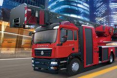 中国重汽 汕德卡SITRAK C5H重卡 340马力 4X2云梯消防车底盘(ZZ5206N501GE1)