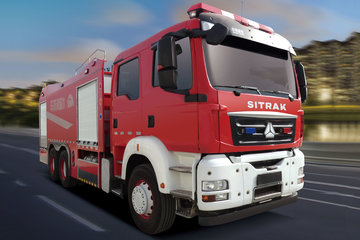中国重汽 汕德卡SITRAK C7H重卡 400马力 6X4水罐消防车底盘(ZZ5356V524ME1)图片