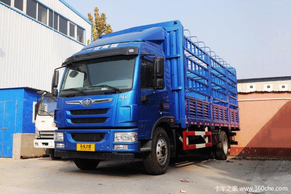 青岛解放 龙V中卡 180马力 4X2 6.75米仓栅式载货车(AMT自动挡)
