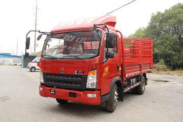 中国重汽HOWO 统帅 141马力 4.165米单排栏板载货车(ZZ1087F331CE183)