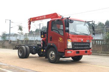 中国重汽HOWO轻卡 统帅 154马力 4X2 随车吊 底盘(ZZ5047JSQF341CE145)