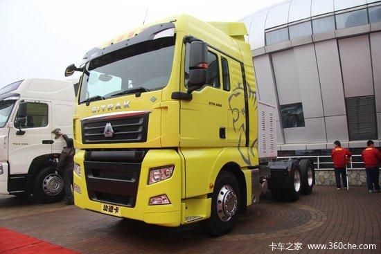 中国重汽 汕德卡SITRAK C7H重卡 430马力 6X4 LNG牵引车(ZZ4256V324HE1LB)