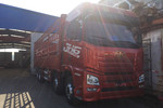青岛解放 JH6重卡 350马力 8X4 9.5米仓栅式载货车(CA5310CCYP25K2L7T4E5A80)