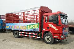 陕汽重卡 德龙L3000 185马力 4X2 6.8米排半仓栅式载货车(SX5180CCYLA12)
