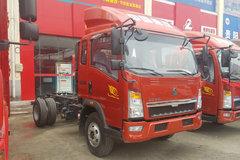 中国重汽HOWO 悍将 143马力 3.8米排半栏板轻卡底盘(ZZ1047F3315E145) 卡车图片
