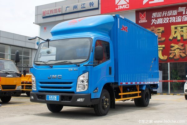 江铃 凯运升级版 宽体 普通款 116马力 4.08米单排厢式轻卡(气刹)