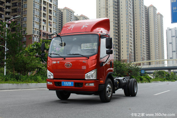 解放 J6F 160马力 4.21米单排载货车底盘