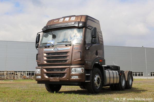 青岛解放 悍V重卡 375马力 6X4牵引车