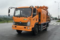 重汽王牌 7系 130马力 4X2 车载式混凝土泵车(CDW5140THBA2R5)