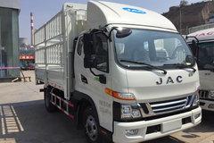 江淮 骏铃V6 156马力 3.8米排半仓栅式轻卡(HFC5043CCYP91K2C2V) 卡车图片