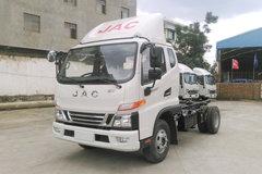 江淮 骏铃V6 141马力 3.85米排半仓栅式轻卡底盘(HFC5043CCYP91K1C2V) 卡车图片