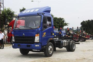 中国重汽HOWO 统帅 154马力 4.165米单排栏板轻卡底盘(10档)(ZZ1047F341CE145)