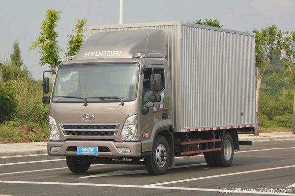 现代商用车 盛图H1 129马力 4.12米单排厢式轻卡