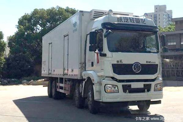 陕汽重卡 德龙新M3000 绿通版 375马力 8X4 9.5米冷藏车(SX5310XLCGB456)