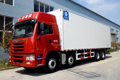 青岛解放 途V重卡 350马力 8X4 9.4米冷藏车(CA5313XLCP2K2L7T4E5A80)