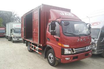 江淮 骏铃V6 156马力 4.15米单排厢式售货车(HFC5043XSHP91K1C2V)