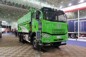 一汽解放 J6P重卡 350马力 6X4 5.6米渣土自卸车