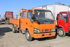 庆铃 五十铃600P 130马力 2.56米双排栏板轻卡(QL1040A5FW) 卡车图片