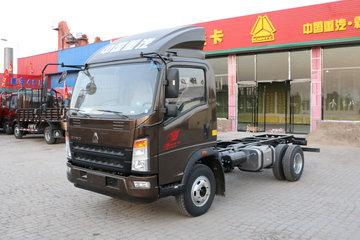 中国重汽HOWO 统帅 重载版 148马力 4.165米单排栏板轻卡底盘(ZZ1047F341CE145)