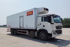 中国重汽 HOWO T5G 240马力 4X2 7.7米冷藏车(绿叶牌)(JYJ5167XLCE)