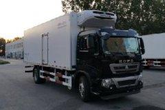 中国重汽 HOWO T5G 240马力 4X2 7.7米冷藏车(中集牌)(ZJV5165XLCSD5)