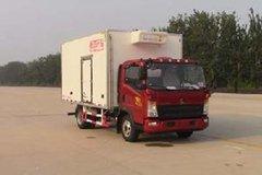 中国重汽HOWO 统帅 148马力 4X2 4米冷藏车(ZZ5047XLCF341CE145)