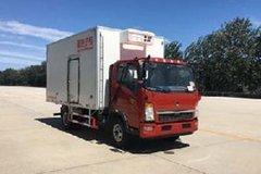 重汽HOWO 悍将 170马力 4X2 4米冷藏车(ZZ5047XLCF341CE145)