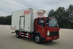 重汽HOWO 统帅 154马力 4X2 4米冷藏车(ZZ5047XLCF341CE145)