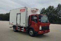 中国重汽HOWO 统帅 154马力 4X2 4米冷藏车(ZZ5047XLCF341CE145)