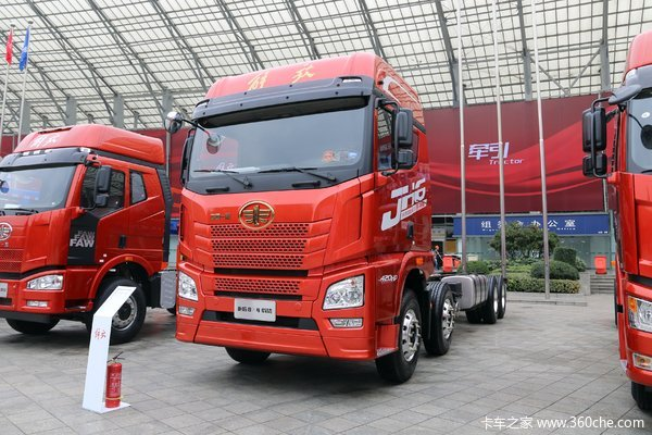 青岛解放 JH6重卡 420马力 8X4 9.5米仓栅式载货车