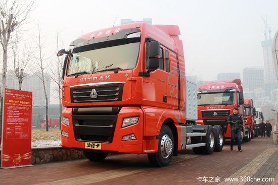 中国重汽 汕德卡SITRAK C7H重卡 430马力 6X4 LNG牵引车(ZZ4256V384HE1LH)