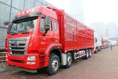 中国重汽 豪瀚J7G重卡 轻量化版 400马力 8X4 9.6米LNG载货车(ZZ5315CCYN4666E1L)
