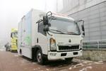 中国重汽HOWO 悍将 7.36T 4.15米单排纯电动厢式轻卡(ZZ5077XXYF331CZ174BEV)94.61kWh