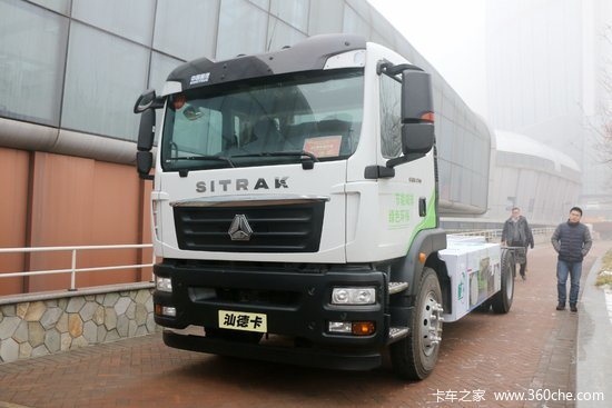 中国重汽 汕德卡SITRAK C5H中卡 210马力 4X2 混合动力载货车底盘(ZZ1186N451GE1PHEV)