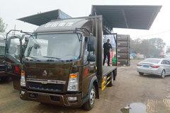 中国重汽HOWO 悍将 156马力 4.15米单排翼开启厢式轻卡(ZZ5047XYKG3314E145) 卡车图片