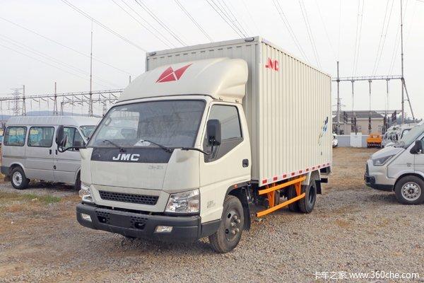 江铃 新款顺达宽体 129马力 4.07米单排厢式轻卡(国六)