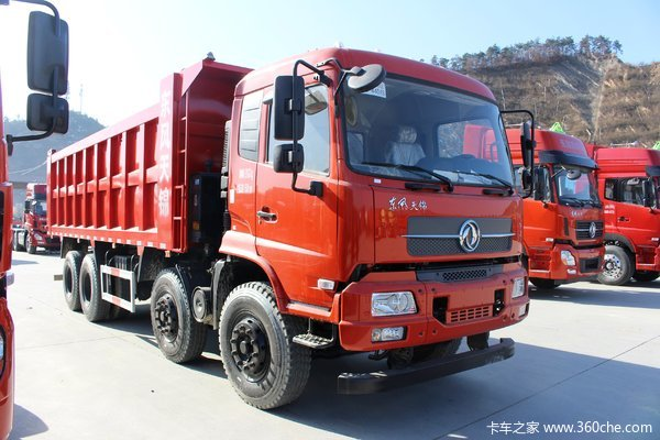 东风商用车 天锦重卡 280马力 8X4 7.3米自卸车