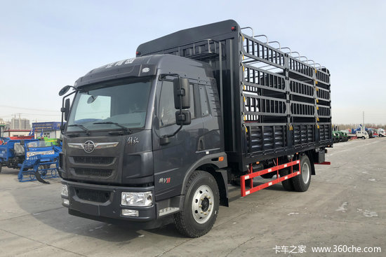 解放 麟VH 190马力 6.2米排半仓栅式载货车(CA5180CCYPK62L5E5A85)