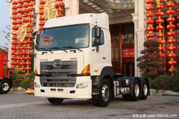 广汽日野 700臻值系 重卡 金典版 420马力 6X4牵引车