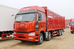 一汽解放 J6P重卡 420马力 8X4 9.5米仓栅式载货车(CA5310CCYP66K2L7T4E5)