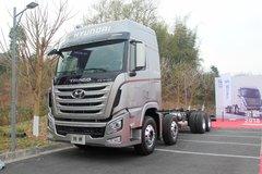 四川现代 创虎XCIENT重卡 轻量化 440马力 8X4 载货车底盘(CHM1310KPQ80V) 卡车图片