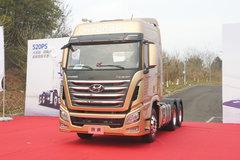 四川现代 Xcient创虎重卡 黄金特别版 520马力 6X4牵引车(CHM4251KPQ49V) 卡车图片