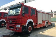 湖北程力 320马力 4X2 重汽豪沃底盘水罐消防车(HXF5200GXFSG80/HW)